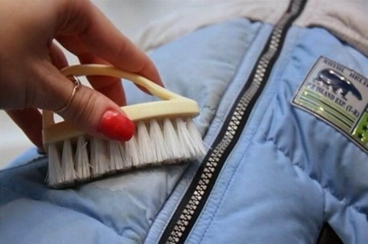 вывести пятно на куртке