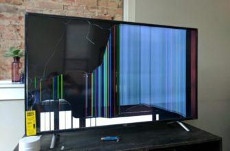 повреждение матрицы экрана