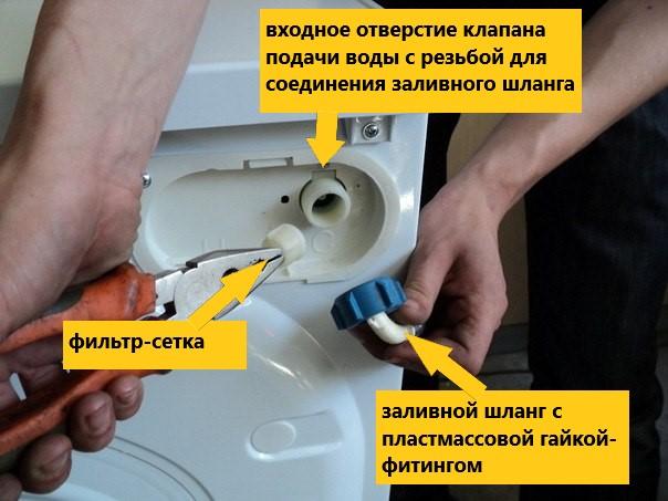 течет стиральная машина при наборе воды