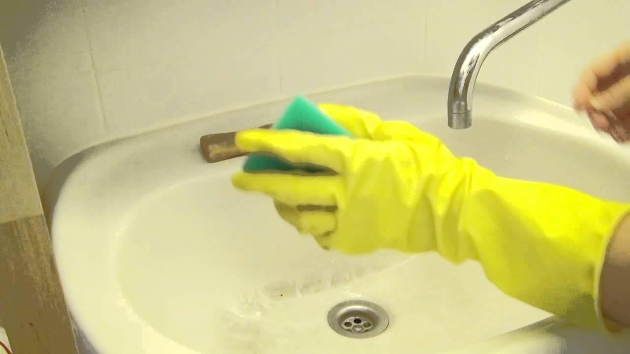почистить раковину уксусом