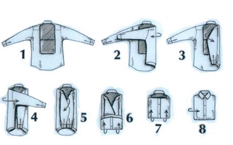 73a1514270a6d70 Фото: Простой способ сложить рубашку или сорочку