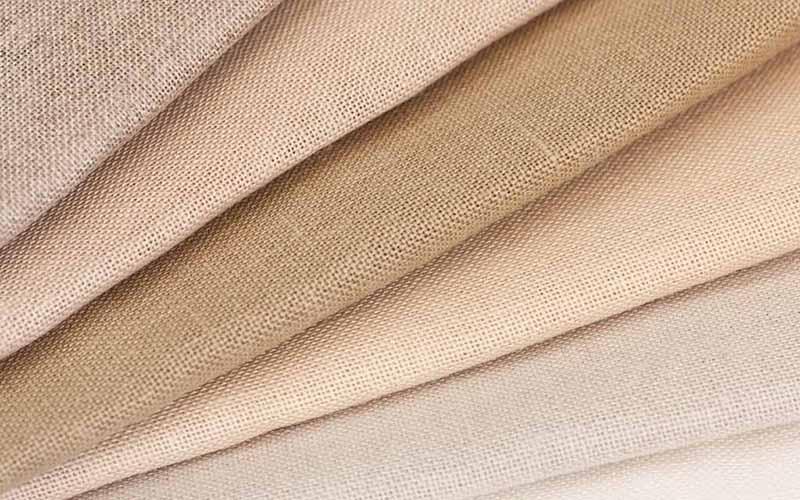 Фото: Ткань изо льна натурального цвета