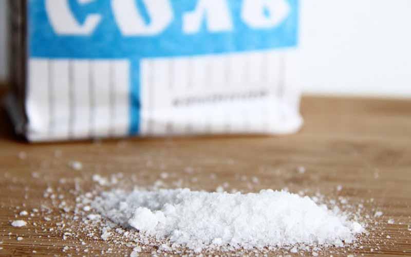 Фото: При длительном воздействии соль способствует размягчению загрязнений