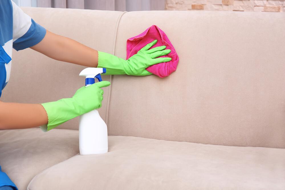 Замшевый диван легко моется аммиаком и водой